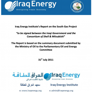IEI Comments on Iraq National Oil Company (INOC) First Draft