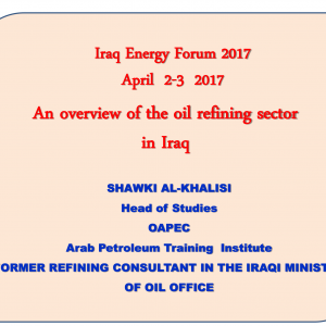 Presentations | Product categories | Iraq Energy Institute