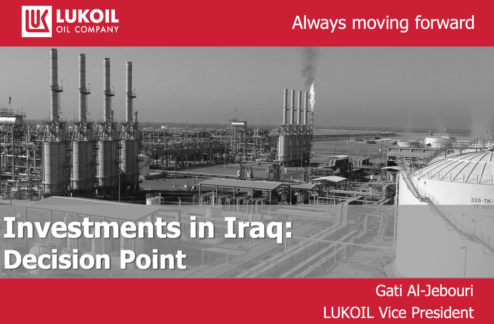 Lukoil Investments in Iraq: Decision Point | Iraq Energy Institute